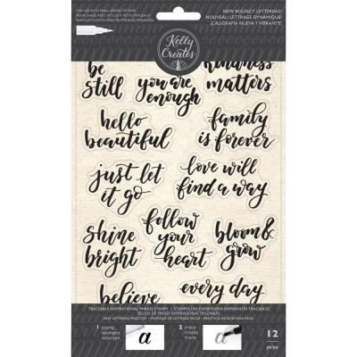 Kelly Creates - Clear Stamps - Inspirational Phrases