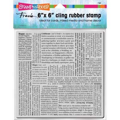 Stampendous Cling Stamp - Inspiring Texts