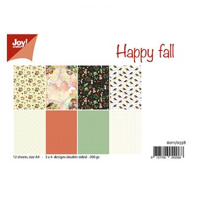 JoyCrafts Designpapier - Happy Fall