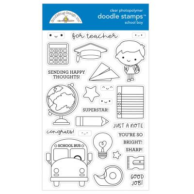 Doodlebugs School Days Clear Stamps - School Boy
