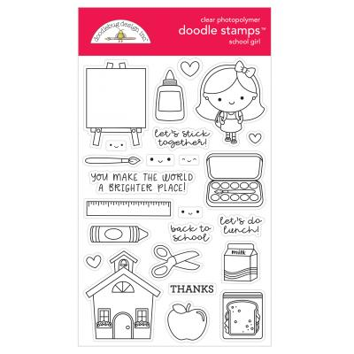Doodlebugs School Days Clear Stamps - School Girl