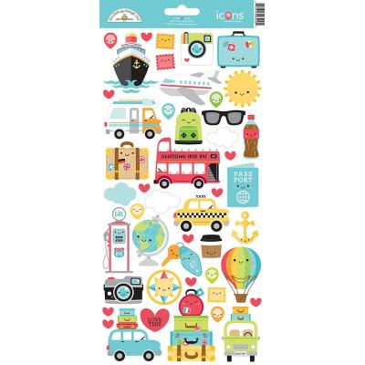 Doodlebugs I Love Travel - Cardstock Sticker