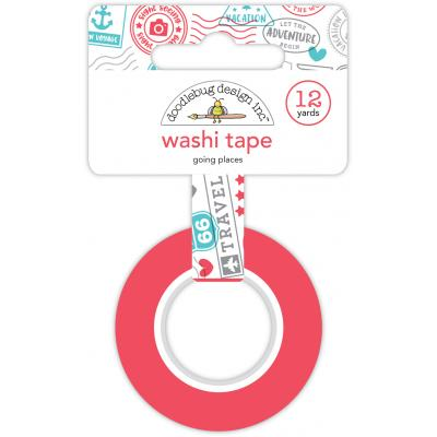 Doodlebugs I Love Travel Washi - Going Places