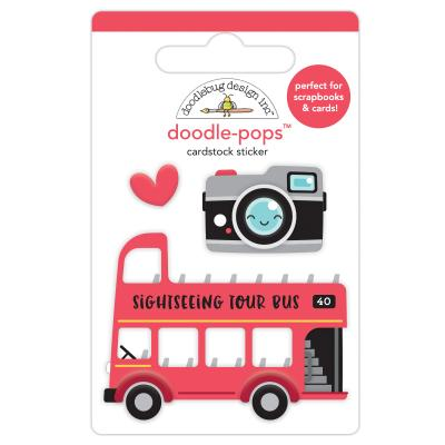 Doodlebugs I Love Travel - Double Decker