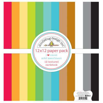 Doodlebugs I Love Travel - Cardstock Pack