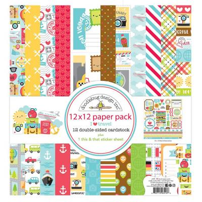 Doodlebug I Love Travel Designpapier - Paper Pack