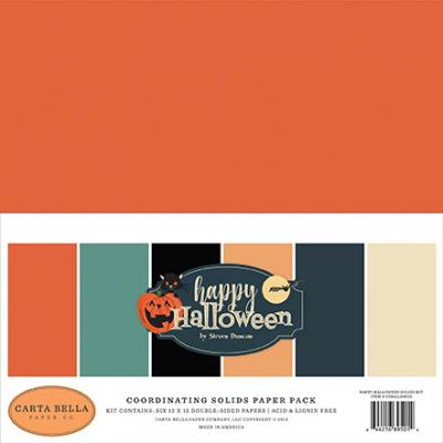 Carta Bella Happy Halloween Cardstock - Solids Paper Pack