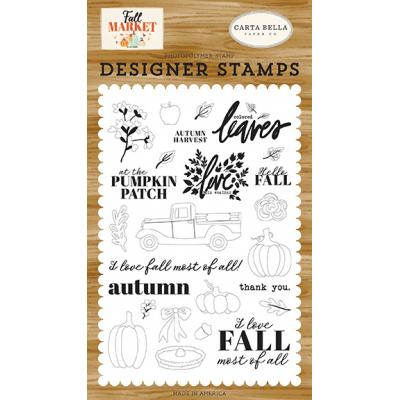 Carta Bella Fall Market Clear Stamps - Autumn Harvest