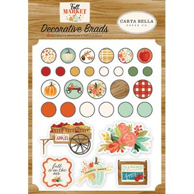 Carta Bella Fall Market Embellishments - Brads