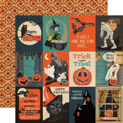 Carta Bella Happy Halloween Designpapier - Journaling Cards