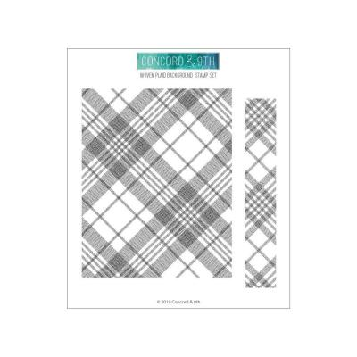 Concord & 9th Clear Stamps - Woven Plaid Background