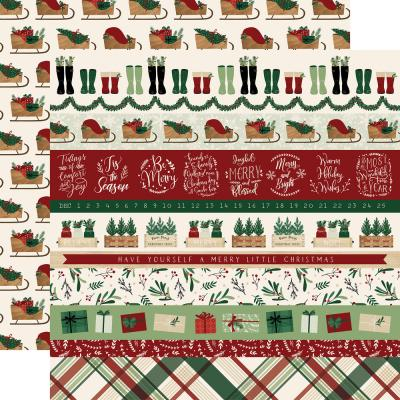 Echo Park A Cozy Christmas Designpapier - Border Strips