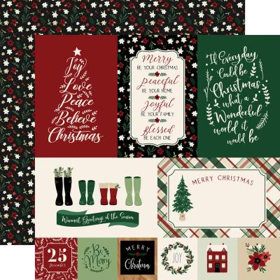 Echo Park A Cozy Christmas - Journaling Cards