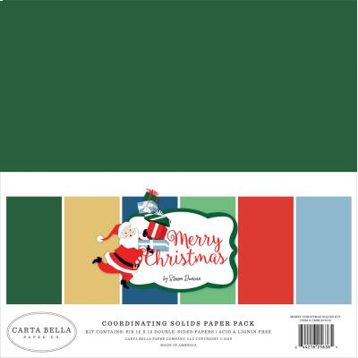 Carta Bella Merry Christmas Cardstock - Solids Kit