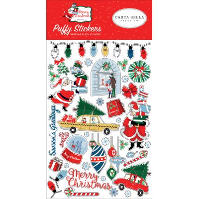 Carta Bella Merry Christmas Weiche Sticker - Puffy Stickers
