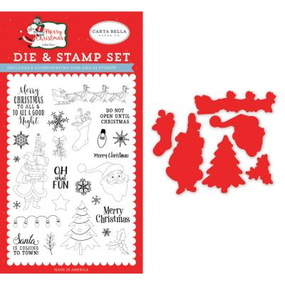 Carta Bella Merry Christmas Clear Stamps und Outline-Stanzschablonen - Oh What Fun