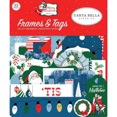 Carta Bella Merry Christmas Die Cuts - Frames & Tags