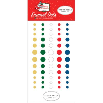 Carta Bella Merry Christmas Embellishments - Enamel Dots