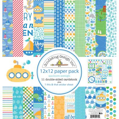 Doodlebug Anchors Aweigh Designpapier - Paper Pack