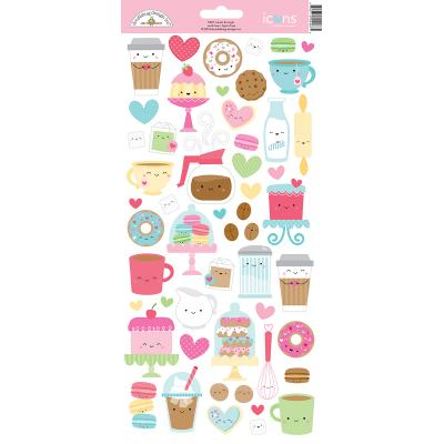 Doodlebug Cream & Sugar - Icon Stickers