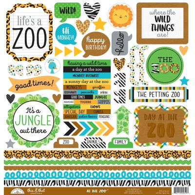 Doodlebug At the Zoo - This & That Sticker