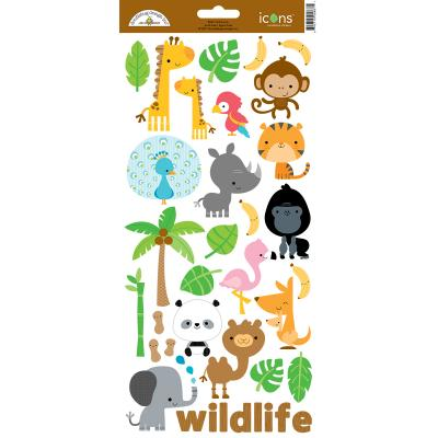 Doodlebug At the Zoo - Icons Sticker 1