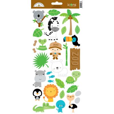 Doodlebug At the Zoo - Icons Sticker 2