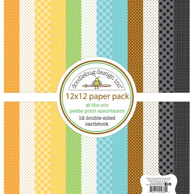 Doodlebug At the Zoo Designpapier - Petite Print Assortment Pack