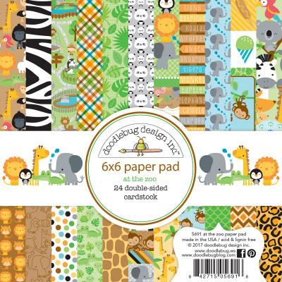 Doodlebug At the Zoo Designpapier - Paper Pad