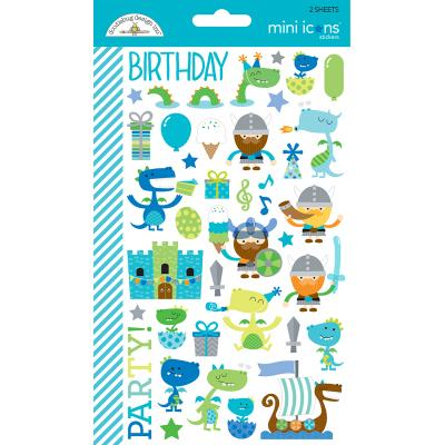 Doodlebug Dragon Tales - Mini Icons Sticker