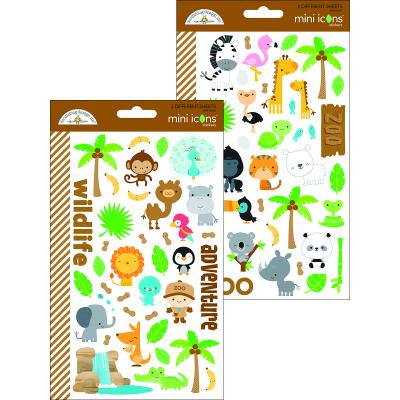 Doodlebug At the Zoo - Mini Icons Sticker