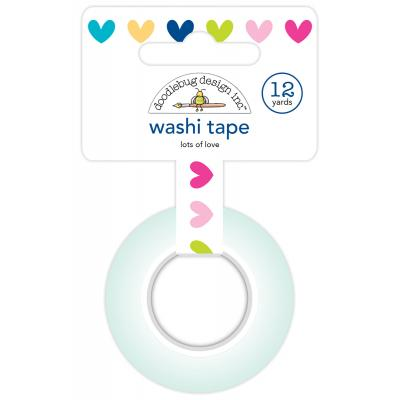 Doodlebug Hello Washi Tape - Lots of Love