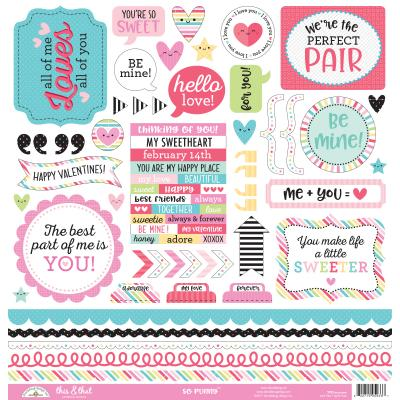 Doodlebug So Punny - This & That Cardstock Sticker