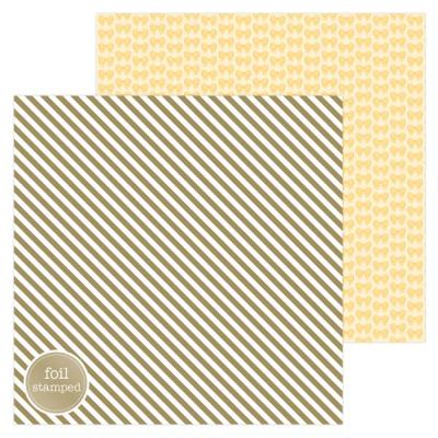 Doodlebug Hello Designpapier - Gold as Gold