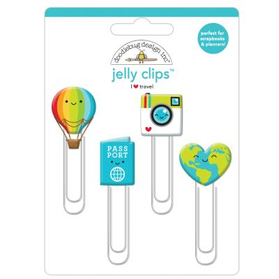 Doodlebugs I Love Travel - Jelly Clips