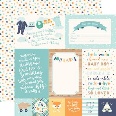 Echo Park Hello Baby Boy - 4x6 Journaling Cards