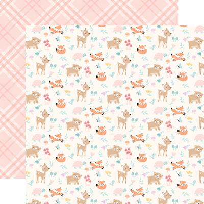 Echo Park Hello Baby Girl Designpapier - Woodland Friends
