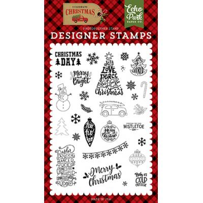 Echo Park Celebrate Christmas Clear Stamps - Christmas Day