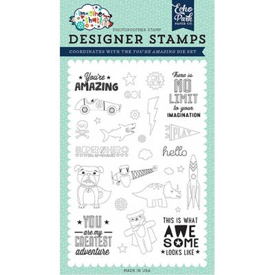 Echo Park Clear Stamps Imagine That Boy - You're Amazing