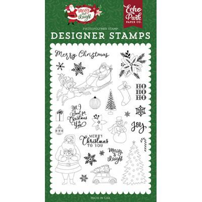 Echo Park Clear Stamps Merry & Bright - Merry Christmas To You