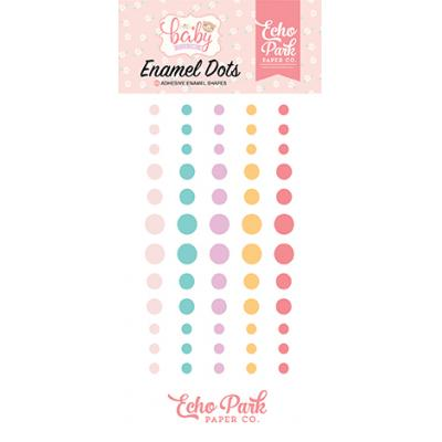 Echo Park Hello Baby Girl - Enamel Dots