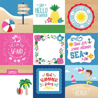 Echo Park I Love Summer - 4x4 Journaling Cards